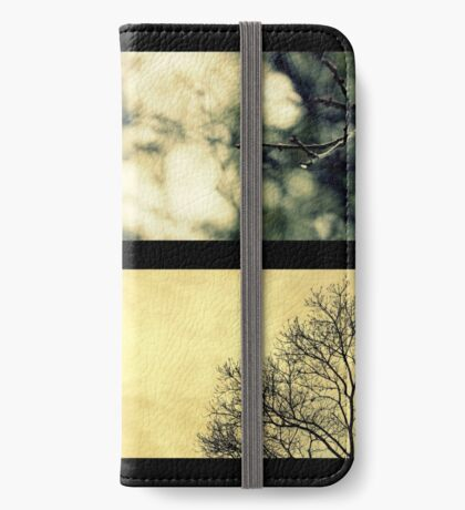 Impressionen des Winters iPhone Flip-Case