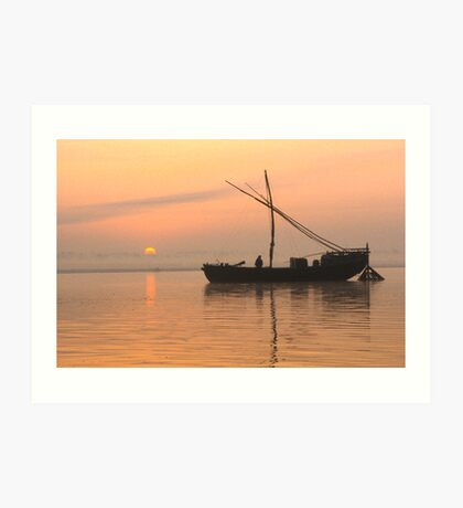 Ganges Dawn Art Print