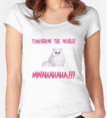 Mwahahaha - cute kitten Women's Fitted Scoop T-Shirt