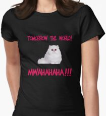 Mwahahaha - cute kitten Womens Fitted T-Shirt