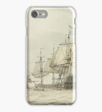 Dominic Serres,  A Squadron of the Fleet making ready to sail, probably from Spithead, the ships' iPhone Case/Skin