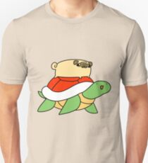 Pug and Red Shelled Turtle  Unisex T-Shirt
