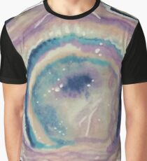 You Rock! Purple Hand-Illustrated Geode Graphic T-Shirt