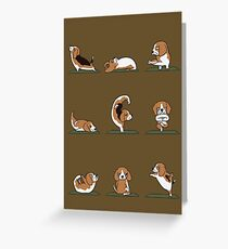 Beagle Yoga Greeting Card