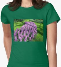 River of Purple - Bed of Hyacinths Womens Fitted T-Shirt