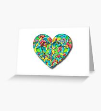 Artistic 3D Floral Heart  Greeting Card