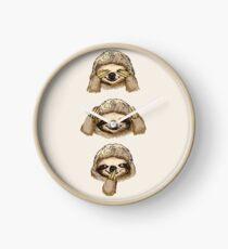 No Evil Sloth  Clock