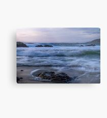 Whispering waves on the beach Metal Print