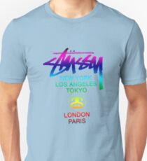 STUSSY WORLD TOUR PURPLE BLUE Unisex T-Shirt