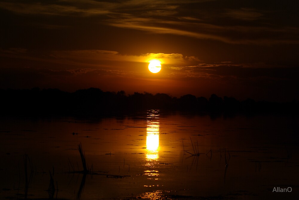 Okavango Sunset 2 by AllanO