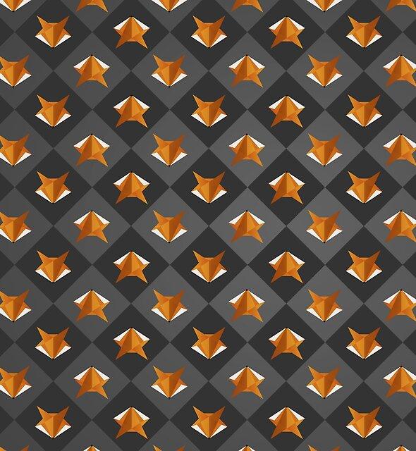 Kitsune : Geometric Fox Pattern by Chris Fox