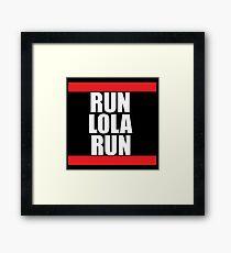 Run lola run  DMC mashup Framed Print