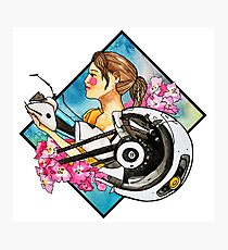 Chell & GLaDOS Photographic Print