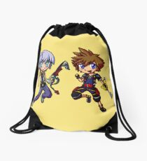 Dark and Light - Chibis Drawstring Bag