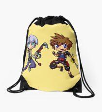 Dark and Light - Chibis Drawstring Bag