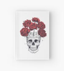 Skull with peonies Hardcover Journal