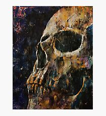 Gold Skull Photographic Print