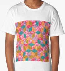 Colorful Isometric Cubes VII Long T-Shirt