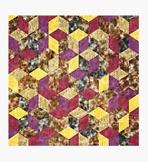 Colorful Isometric Cubes VIII Photographic Print