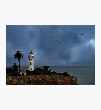 Storm brewing off Point Vicente Photographic Print