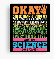 Science March T-Shirt Science Earth Day Scientists Canvas Print
