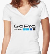GoPro - Be a Hero Women's Fitted V-Neck T-Shirt