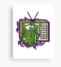 Retro TV with Vines Canvas Print