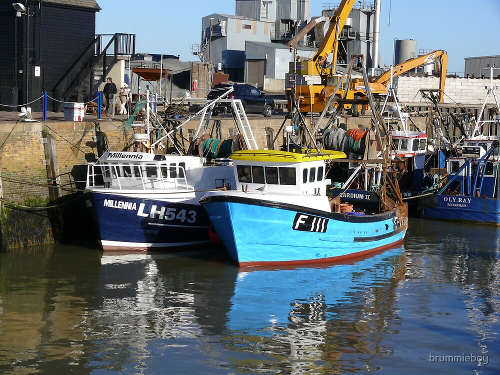 Fishing Boats Whitstable Harbour by brummieboy