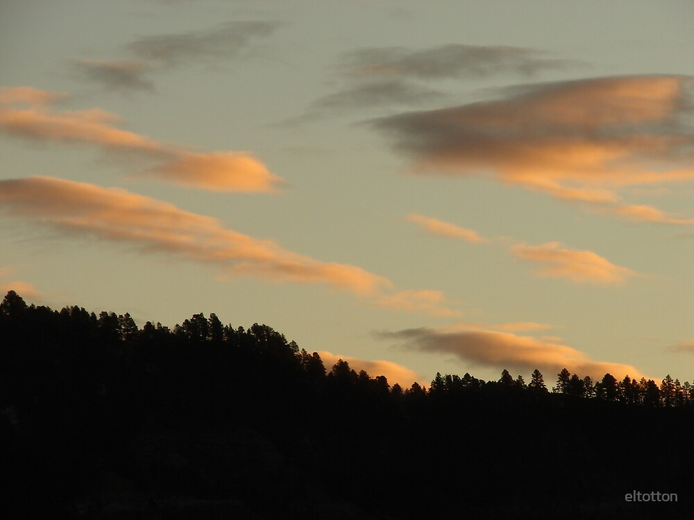 Morning Sky Over The Mountain. by eltotton