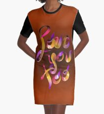 Candy Love You Too Graphic T-Shirt Dress