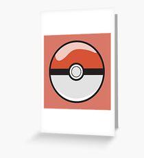 Red Pokeball - Pokemon Greeting Card