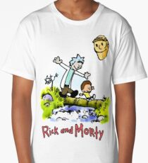 Rick and Morty Calvin and Hobbes Long T-Shirt