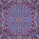 Lavender Lotus, Floral Arabesque Pattern, Bohemian Oriental Style by clipsocallipso