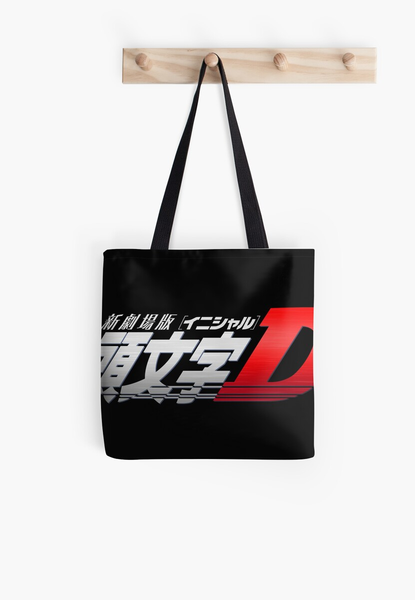 initial d logo tote bags by cosmicstaytripy redbubble