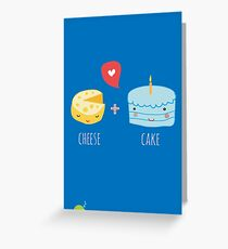 Cheese + cake Greeting Card