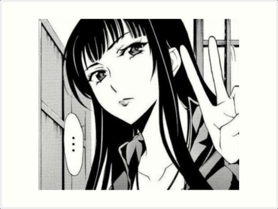 Manga Girl Peace Sign Art Prints By Jiggymiggy Redbubble