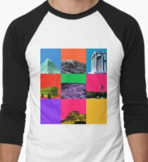 7 Wonders of the world Men's Baseball ¾ T-Shirt
