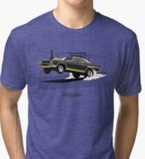 Dodge Challenger dragster (black/gold) Tri-blend T-Shirt
