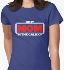 Best Mom in the Galaxy (dark) Womens Fitted T-Shirt