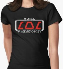 Best Mom in the Galaxy (Aurebesh) Womens Fitted T-Shirt