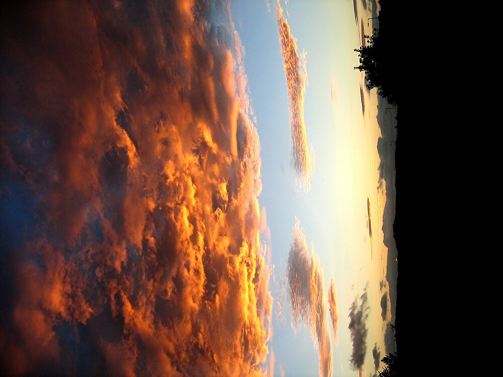 red sky at night by david stevenson
