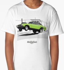 Dodge Challenger dragster (green/black) Long T-Shirt