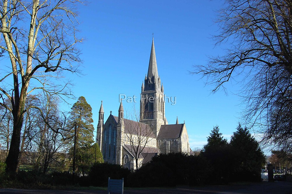 Killarney Cathedral in Winter by Pat Herlihy