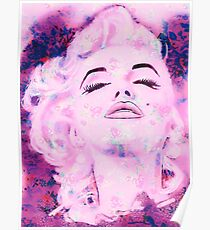 Marilyn in pink for Jes Poster
