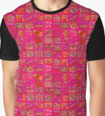 Abstract pattern of geometric shapes freehand drawing  Graphic T-Shirt