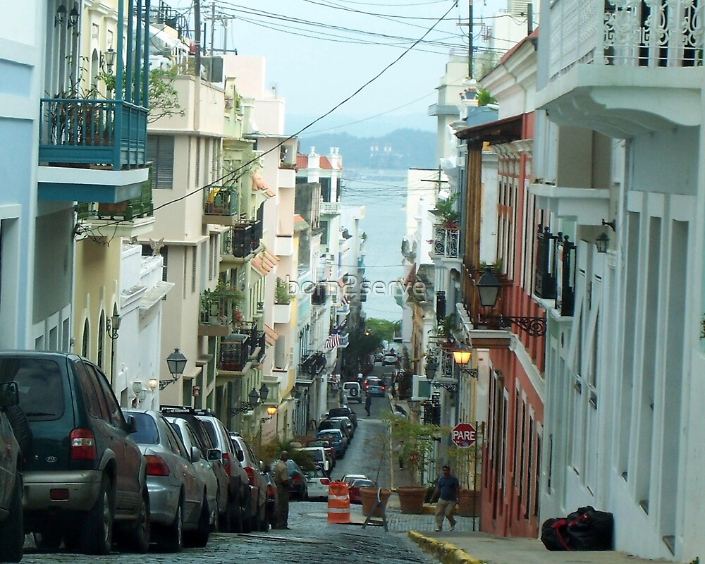 Streets of Old San Juan by born2serve