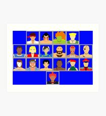 Select Your Character - Super Street Fighter 2 Turbo Art Print