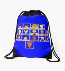 Select Your Character - Super Street Fighter 2 Turbo Drawstring Bag