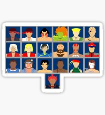 Select Your Character - Ultra Street Fighter 2 Sticker