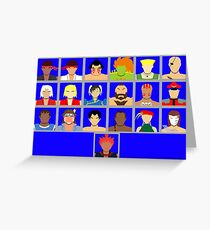 Select Your Character - Ultra Street Fighter 2 Greeting Card